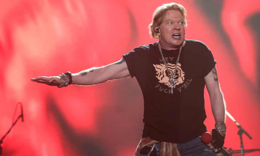 Axl Rose performs with Guns N' Roses in Mexico City in March. The band has supported BLM on Instagram.
