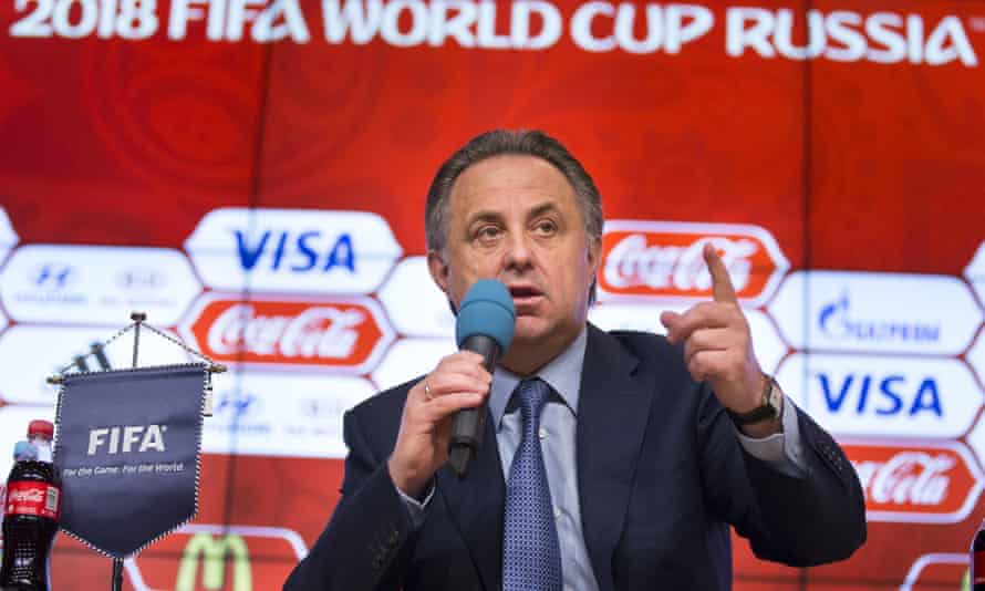 Russian sports minister Vitaly Mutko speaks during a press conference on World Cup 2018 issues in Moscow.