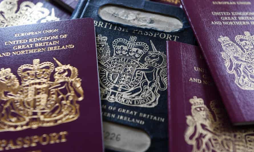 A pile of old and new UK passports