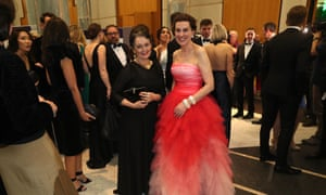 Virginia Trioli with Pru Goward at the Midwinter Ball