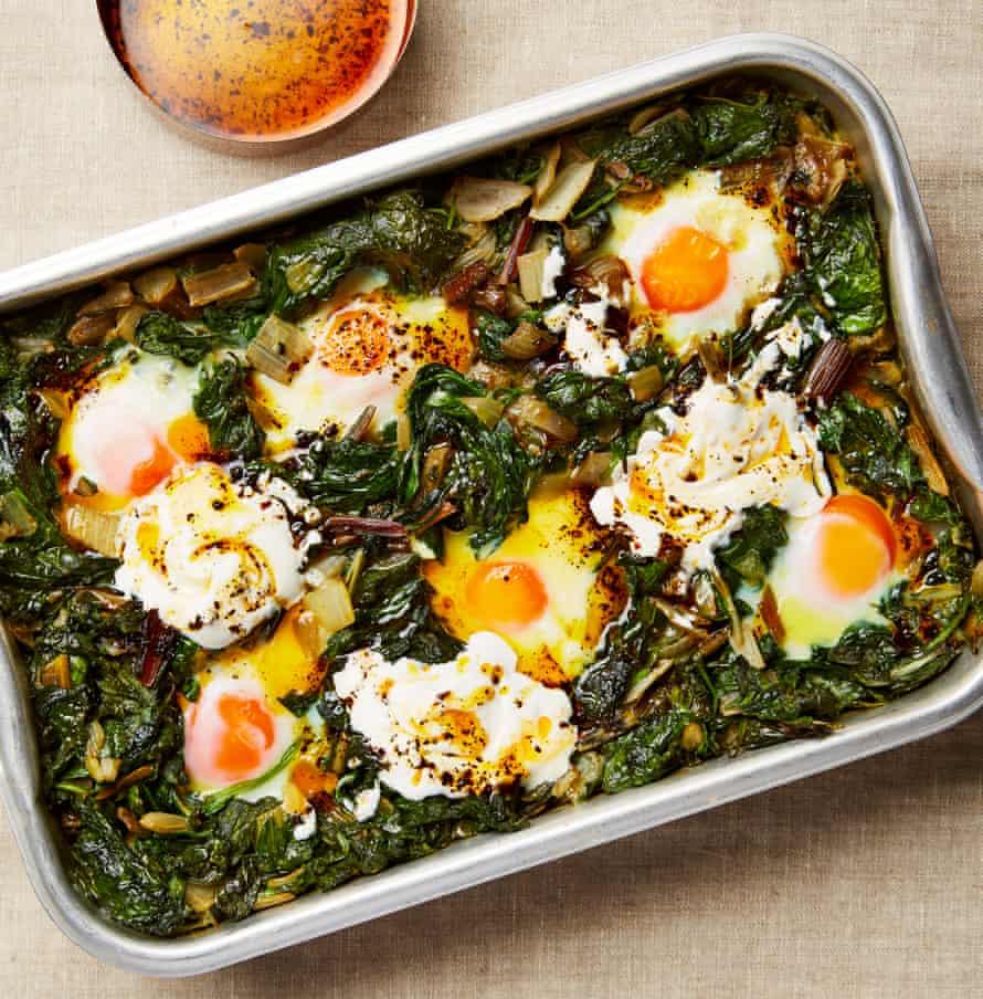 Yotam Ottolenghi's recipe for Karl's baked eggs.