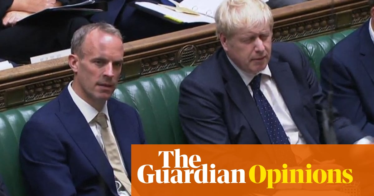 PM's failure to back him suggests apocalypse some time soon for Raab