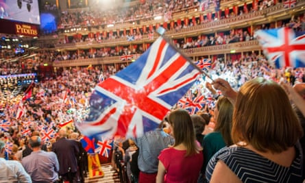 The Last Night of the Proms at the Albert Hall, London.