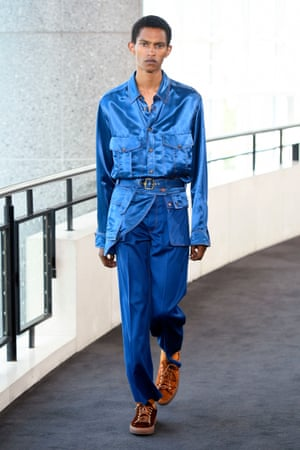 Sies Marjan   Sander Lak's passion for a colour-saturated palette didn't get diluted on route from New York, where he normally shows. For his Paris debut, he gave us vivid azure blue, intense mustard and shocking pillar-box red. Resisting the temptation to feature myriad ideas, Lak kept the collection concise at 37 looks: a conscious decision to make sure he didn't overcomplicate things. Outerwear was a dominant category here – from long belted coats to sheepskin-trimmed jackets – but they were fluid and sexy.