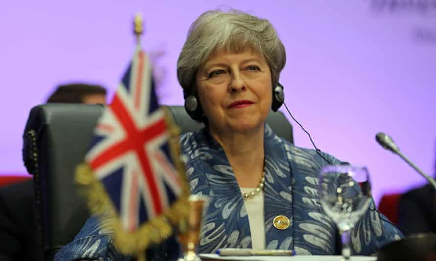 Theresa May attends the Arab league and EU summit, in Sharm el-Sheikh.