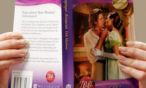 Woman reading Mills & Boon book