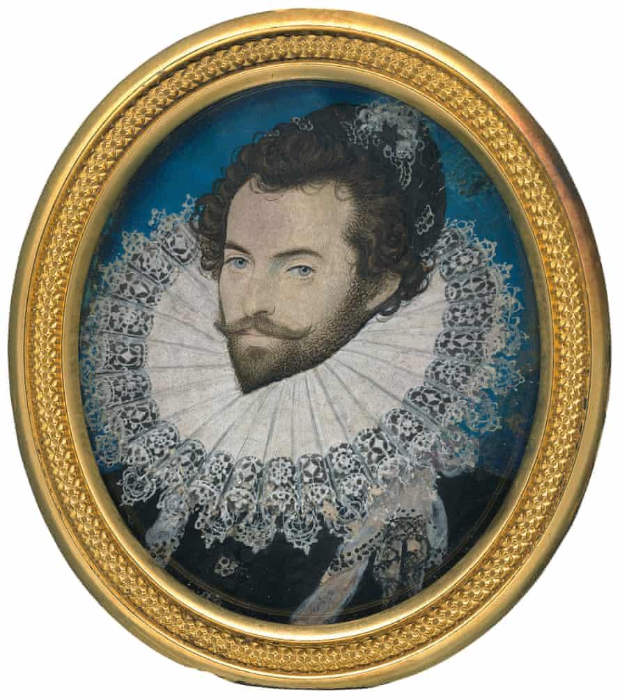 Sir Walter Ralegh by Nicholas Hilliard, c.1585.