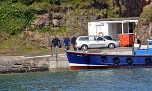 Paul Ashton's arrest on Caldey beach.