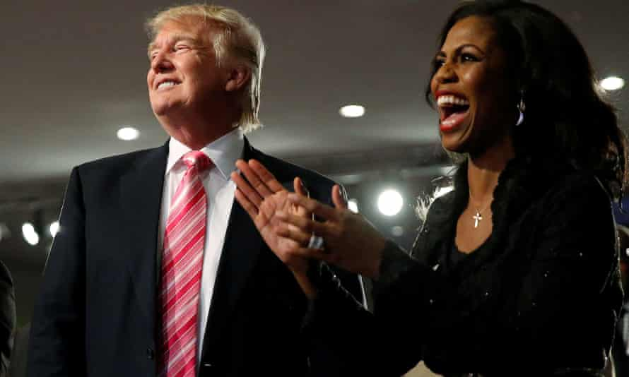 Donald Trump and Omarosa Manigault, 'one of his most ubiquitous campaign surrogates'.