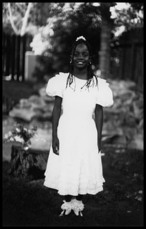 Onyx Event Young Girl Dressed up in White, 1990s