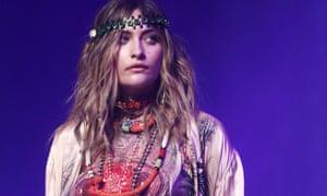 Paris Jackson models for Jean Paul Gaultier during Paris Haute Couture fashion week in January.