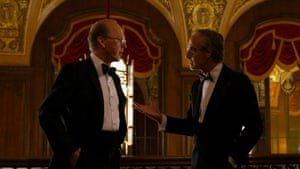Michael Keaton and Stanley Tucci in Worth.