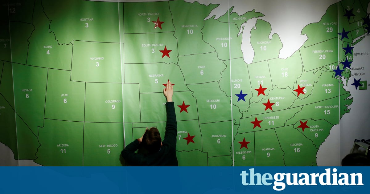 At The Next Presidential Election The Popular Vote Must Win Out - Us election 2016 map the guardian