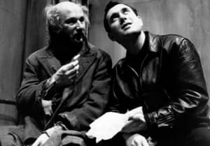 Harold Pinter, right, rehearsing The Caretaker with Donald Pleasence as Davies. The 1960 stage production became a film in 1963.