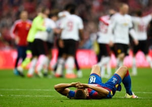 Meanwhile there's heartbreak for Dwight Gayle and his Crystal Palace team-mates.