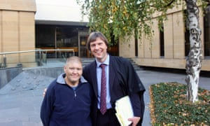 Gregory Parsons and Ben Bartl outside the Tasmanian supreme court