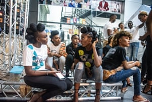 The main organiser of Congo fashion week, Nancy Kondo, said: 'We're using fashion to change people's mindsets. Congolese people are the frontrunners of African fashion, we have so much talent here. The event allows us to get people talking about something else, instead of focusing on the negative'