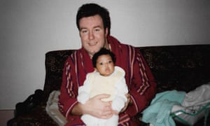 Georgina with her father.