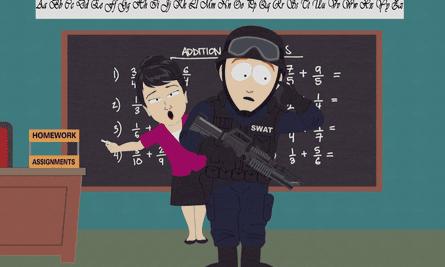 A still from South Park's Dead Kids episode