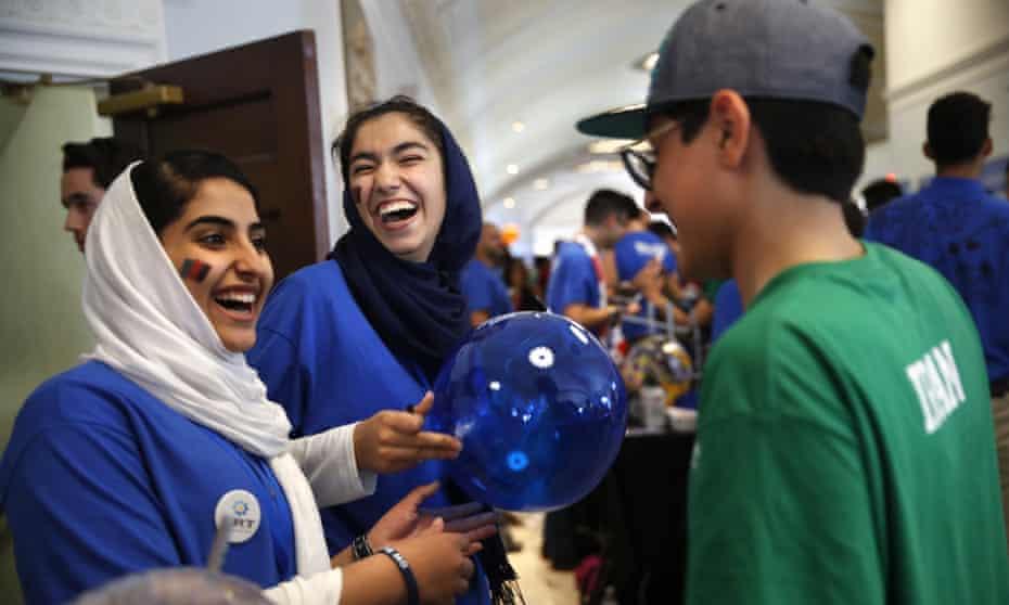 Lida Azizi and Yasimin Yasinzadah, with Team Afghanistan.