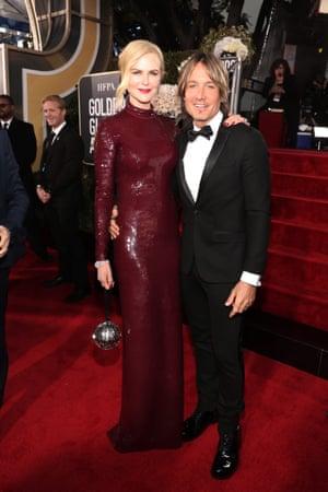 Nicole Kidman in Michael Kors Collection, with Keith Urban.