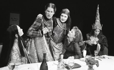 Lesley Manville, second from right, invites Sarah Lam, Deborah Findlay, Lesley Sharp and Anna Patrick to dinner in Top Girls in 1991.