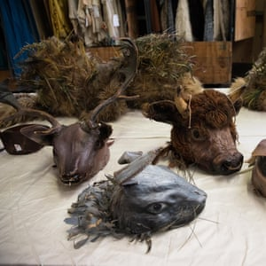 Animal masks at the sale.