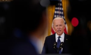 President Joe Biden delivers remarks on the economy, in the East Room on Monday.