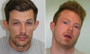 James Whitlock (left) and Matthew Baker have escaped from Pentonville prison in London.