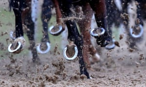 Runners kick up sand at Wolverhampton. John Caesar's win there in 2016 led to this week's BHA hearing.