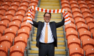 Simon Sadler, the owner of Blackpool FC, at the club's Bloomfield Road ground.