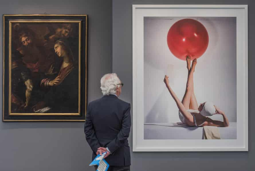 Works by Guilo Procaccini, 1625, and Horst P Horst, 1941, on show at Bernheimer Fine Art's stand at Frieze Masters.