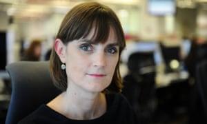 Amelia Gentleman in the Guardian office, London
