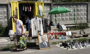 Flea market in Ukraine's capital, Kiev.