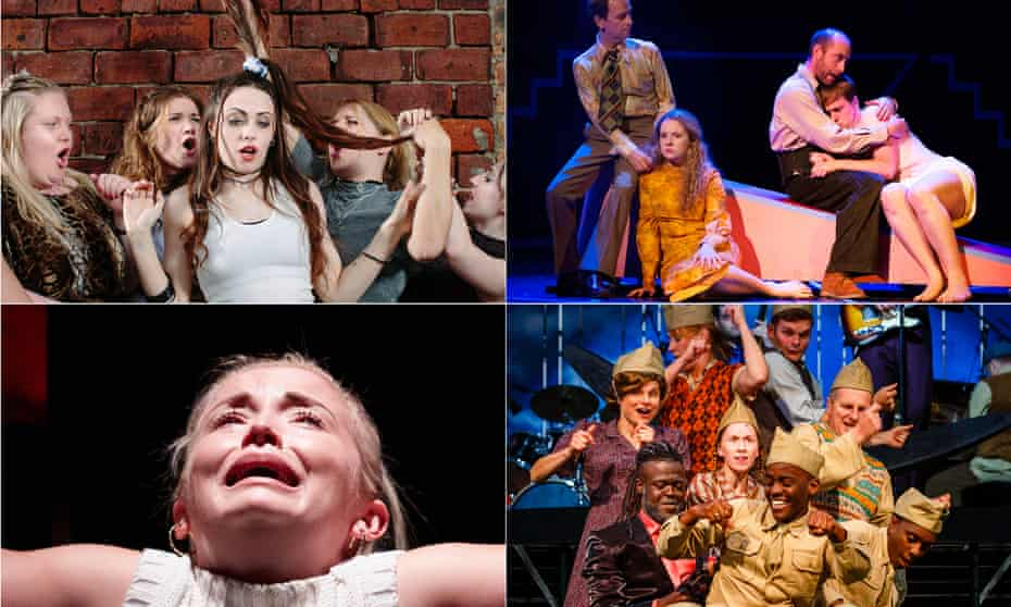 Some of our readers' favourite shows of 2015, clockwise from top left: Our Ladies of Perpetual Succour, Lanark , 946 and Iphigenia in Splott