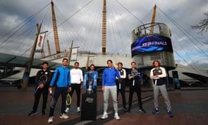 Dominic Thiem, Novak Djokovic, Matteo Berrettini, Roger Federer, Rafael Nadal, Alexander Zverev, Daniil Medvedev and Stefanos Tsitsipas.