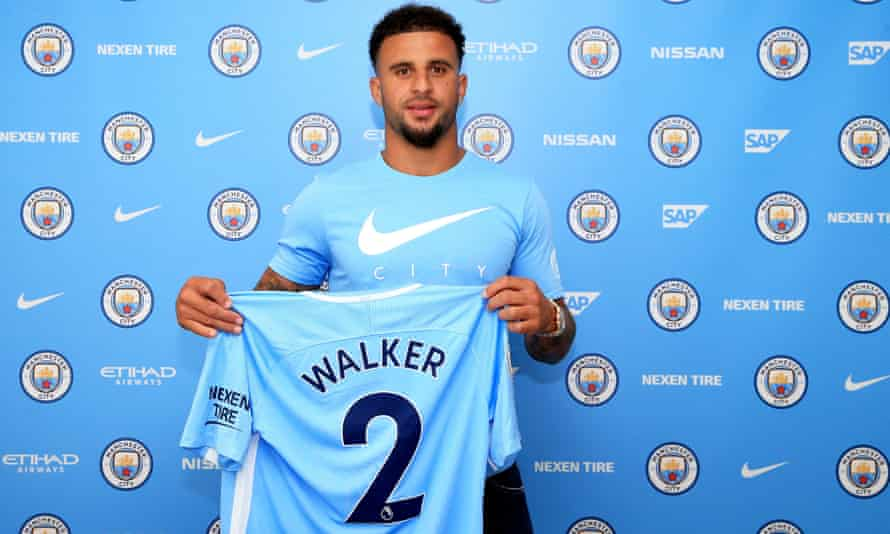 Kyle Walker after his signing for Manchester City.