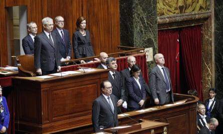 President Hollande, minute's silence
