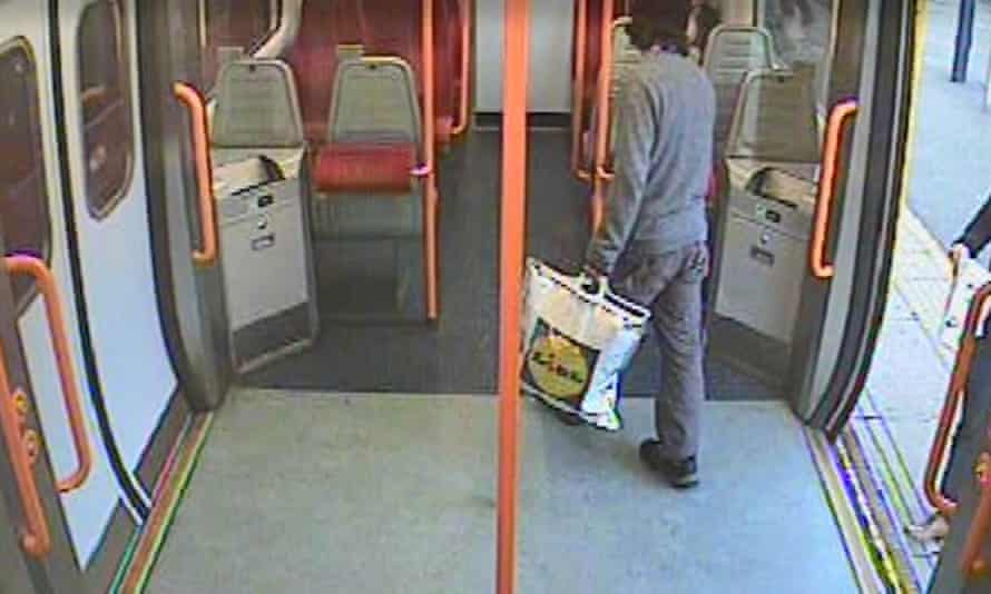 CCTV image shows Ahmed Hassan getting on a train at Sunbury station before the Parsons Green bomb was detonated.