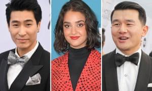 Chris Pang, Geraldine Viswanathan and Ronny Chieng