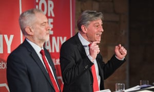 Jeremy Corbyn and Richard Leonard give a joint press conference In Glasgow.