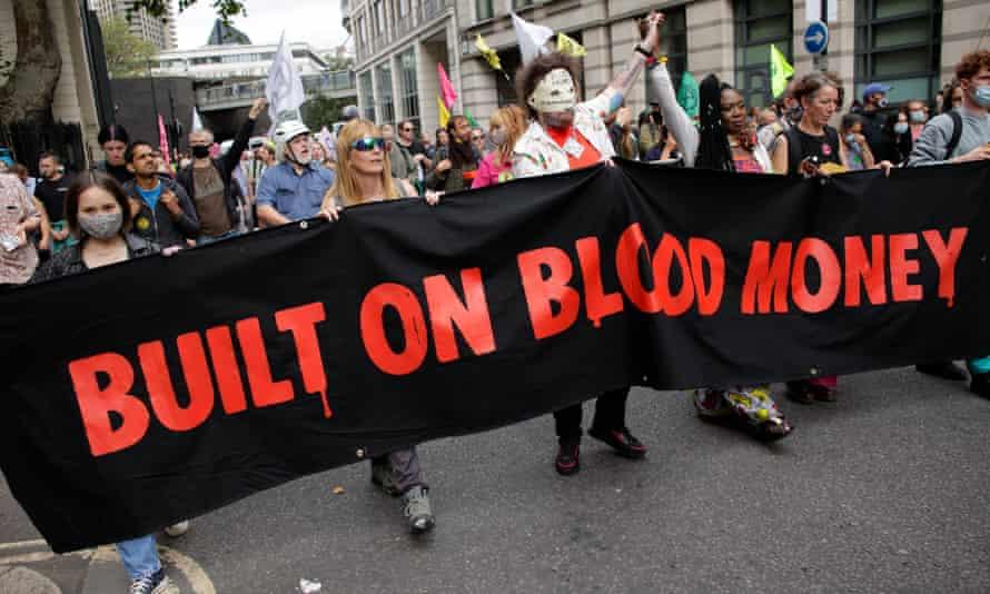 Extinction Rebellion activists target the City of London financial district