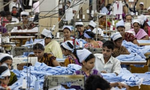 Garment factory workers in Dhaka, Bangladesh