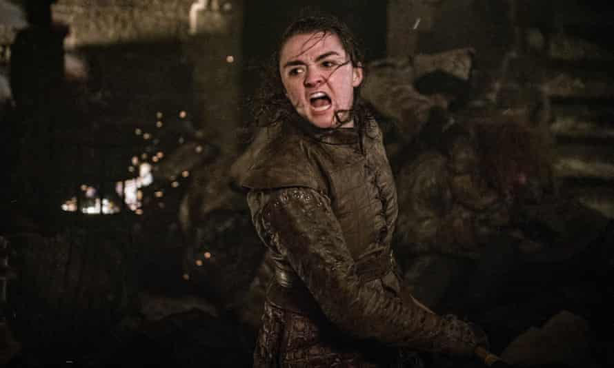 'Arya is calling. I think she means to kill someone' ... Maisie Williams in Game of Thrones.