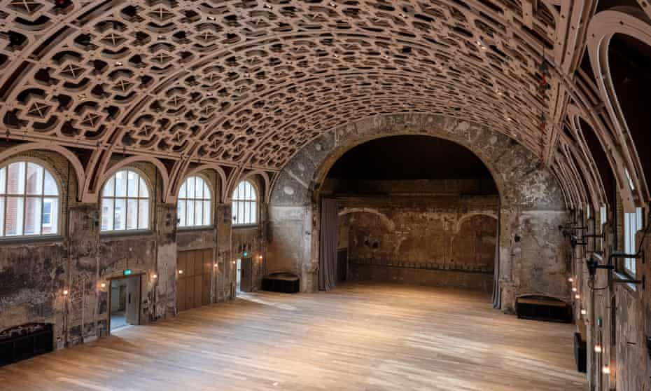 'What would it mean for us to relinquish tyrannical control?' … the restored grand hall of BAC, which had been burnt to the ground.