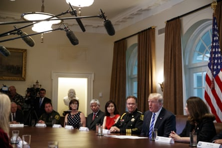 Donald Trump suggested the Oakland mayor should be prosecuted at a roundtable on immigration policy.