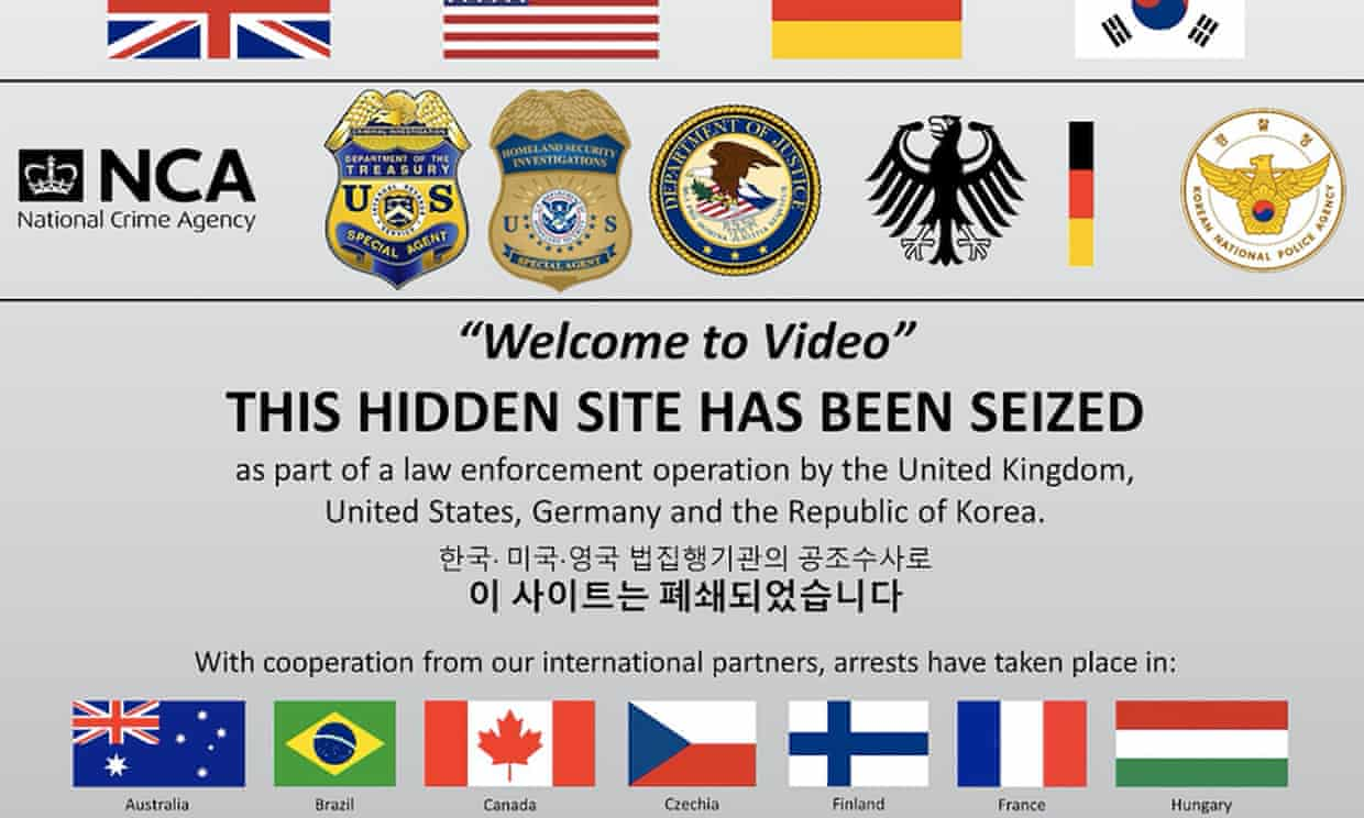A screen shot of the seized dark web 'Welcome To Video' which hosted a library of 250,000 child sexual abuse videos.