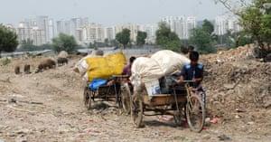 Garbage dump in Gurgaon