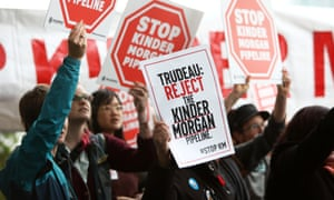 Construction on the Kinder Morgan pipeline was halted over the summer.