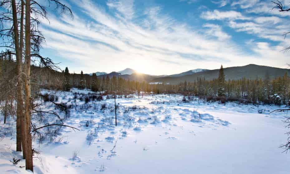 Sunset at Byers Peak, near Winter Park and Fraser, Colorado, US.